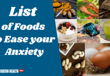 Some List of Foods to Ease your Anxiety